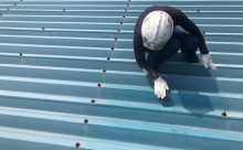 愛知県西三河東三河西尾市屋根塗装シリコン塗装汚れ錆色褪せ施工写真ケレン
