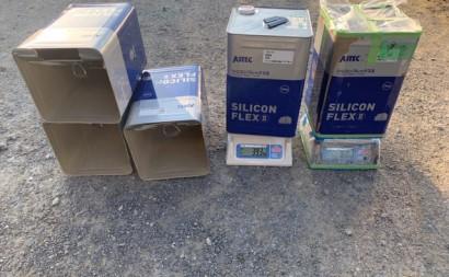 愛知県西三河東三河碧南市外壁塗装アステックシリコン塗装上塗り使用缶数4.3缶