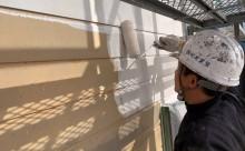 愛知県西三河東三河碧南市外壁塗装アステックシリコン塗装ベージュ剥がれ色褪せ錆下塗り