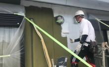 愛知県西三河東三河西尾市外壁塗装アステック超低汚染リファインSiシリコン塗装モカ色褪せ汚れ下塗り