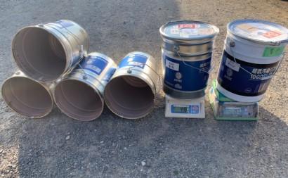 愛知県西三河東三河西尾市外壁塗装アステック超低汚染リファインSiシリコン塗装モカ色褪せ汚れ上塗り使用缶数5.3缶