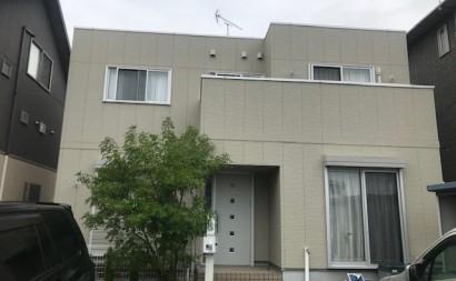 愛知県西三河西尾市外壁塗装超低汚染遮熱シリコン塗装スレートグレー屋上防水施工前