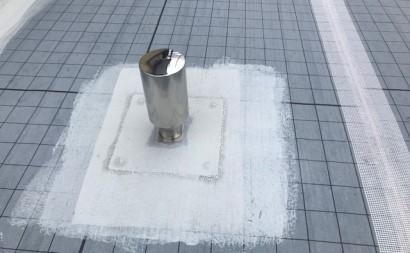 愛知県西三河東三河碧南市外壁塗装工事ウレタン防水工事通気緩衝工法雨漏り脱気筒
