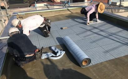 愛知県西三河東三河碧南市外壁塗装工事ウレタン防水工事通気緩衝工法雨漏り通気緩衝シート