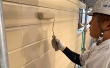 愛知県西三河東三河碧南市外壁塗装アステックシリコン塗装ベージュ剥がれ色褪せ錆上塗り