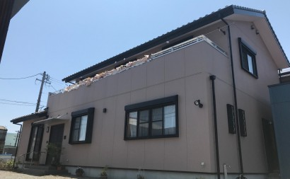愛知県西三河東三河西尾市外壁塗装アステック超低汚染リファインSiシリコン塗装モカ色褪せ汚れベランダ防水FRPトップ保護仕上げ施工後
