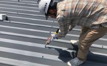 愛知県西三河東三河西尾市屋根塗装シリコン塗装汚れ錆色褪せ施工写真ボトルキャップ