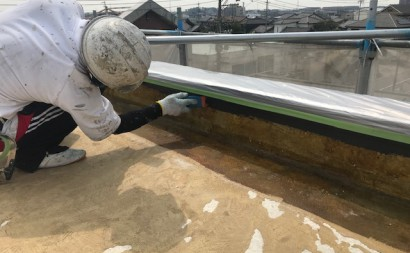 愛知県西三河東三河碧南市外壁塗装工事ウレタン防水工事通気緩衝工法雨漏りシーリング工事