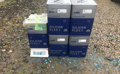 愛知県西三河東三河碧南市外壁塗装アステックシリコン塗装上塗り使用前4.5缶