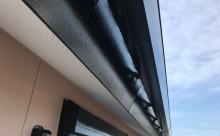 愛知県西三河東三河西尾市外壁塗装アステック超低汚染リファインSiシリコン塗装モカベランダ防水FRPトップ保護塗装仕上げ施工写真軒樋鼻隠し