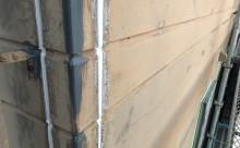 愛知県西三河東三河碧南市外壁塗装アステックシリコン塗装ベージュ剥がれ色褪せ錆シーリング