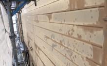 愛知県西三河東三河碧南市外壁塗装アステックシリコン塗装ベージュ剥がれ色褪せ錆現状