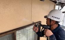 愛知県西三河東三河西尾市外壁塗装工事遮熱断熱セラミックガイナ塗装ベージュ外壁施工写真高圧洗浄