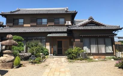 愛知県西三河東三河西尾市外壁塗装工事遮熱断熱セラミックガイナ塗装ベージュ汚れひび割れ色褪せ施工後