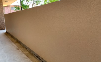 愛知県西三河東三河西尾市マンション塗替え外壁超低汚染遮熱シリコン塗装ミッドビスケット施工写真完成