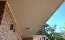 愛知県西三河西尾市マンション塗替え外壁超低汚染遮熱シリコン塗装ミッドビスケットタイル壁クリヤー塗装施工写真完成