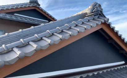 愛知県西三河東三河西尾市外壁塗装工事遮熱断熱セラミックガイナ塗装破風部切妻部塗装施工写真完成