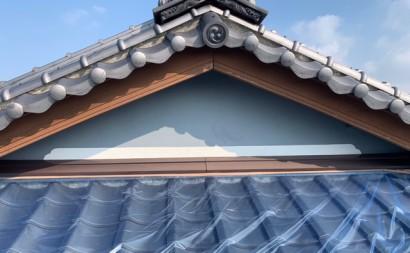 愛知県西三河東三河西尾市外壁塗装工事遮熱断熱セラミックガイナ塗装破風部切妻部塗装施工写真現状