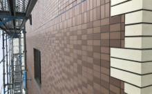 愛知県西三河東三河西尾市マンション塗替えタイル壁クリヤー塗装施工写真現状