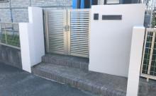 愛知県西三河東三河西尾市付帯部塗装工事シーリング工事汚れシーリング割れ色褪せ施工後擁壁