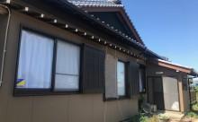 愛知県西三河東三河西尾市外壁塗装工事遮熱断熱セラミックガイナ塗装破風部切妻部塗装施工写真外観