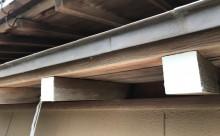 愛知県西三河東三河西尾市外壁塗装工事遮熱断熱セラミックガイナ塗装破風部切妻部塗装施工写真軒天