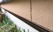 愛知県西三河東三河西尾市外壁塗装工事遮熱断熱セラミックガイナ塗装破風部切妻部塗装施工写真土台水切り