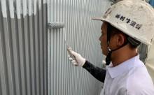 愛知県西三河東三河碧南市外壁塗装工事屋上塩ビシート防水工事アステックマックスシールドフッ素塗装外壁ガルバリウム鋼板塗装下塗り