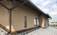 愛知県西三河東三河西尾市外壁塗装工事遮熱断熱セラミックガイナ塗装破風部切妻部塗装外壁完成