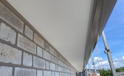 愛知県西三河東三河西尾市付帯部塗装工事シーリング工事汚れシーリング割れ色褪せ軒天完成