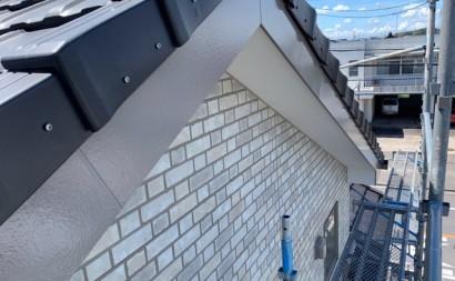 愛知県西三河東三河西尾市付帯部塗装工事シーリング工事汚れシーリング割れ色褪せ破風部完成