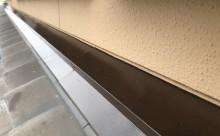 愛知県西三河東三河西尾市外壁塗装工事遮熱断熱セラミックガイナ塗装破風部切妻部塗装施工写真屋根水切り