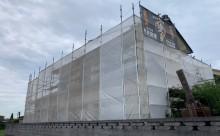 愛知県西三河東三河付帯部塗装工事手摺庇戸袋シリコン塗装鼻隠しフッ素塗装剥がれ割れ欠け汚れ自社施工足場