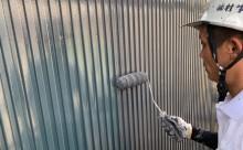 愛知県西三河東三河碧南市外壁塗装工事屋上塩ビシート防水工事アステックマックスシールドフッ素塗装外壁ガルバリウム鋼板塗装上塗り