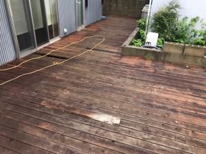 西尾市木製デッキ解体