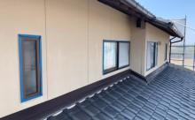 愛知県西三河東三河西尾市外壁塗装工事遮熱断熱セラミックガイナ塗装破風部切妻部塗装外壁現状