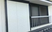 愛知県西三河東三河付帯部塗装工事手摺庇戸袋シリコン塗装鼻隠しフッ素塗装剥がれ割れ欠け汚れ施工写真戸袋手摺庇