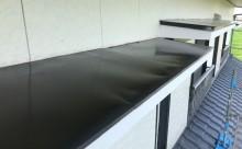 愛知県西三河東三河付帯部塗装工事手摺庇戸袋シリコン塗装鼻隠しフッ素塗装剥がれ割れ欠け汚れ施工写真庇