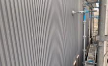 愛知県西三河東三河碧南市外壁塗装工事屋上塩ビシート防水工事アステックマックスシールドフッ素塗装外壁ガルバリウム鋼板塗装現状