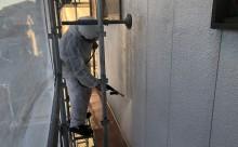 愛知県西三河東三河西尾市外壁塗装アステックリファインSi超低汚染シリコン塗装カラーボンドベイジュ外壁施工写真高圧洗浄