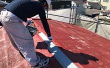 愛知県西三河東三河西尾市汚れ傷みメンテナンスカラーベスト屋根塗装アドグリーンコートEXクールブラウン汚れ苔施工写真錆び止め