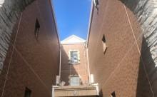愛知県西三河西尾市マンション塗替えメンテナンス外壁超低汚染遮熱シリコン塗装ミッドビスケットタイル壁クリヤー塗装付帯部4Fフッ素塗装施工例外壁