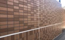 愛知県西三河西尾市マンション塗替えメンテナンス外壁超低汚染遮熱シリコン塗装ミッドビスケットタイル壁クリヤー塗装付帯部4Fフッ素塗装施工例シーリング