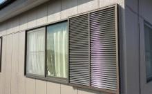 愛知県西三河東三河西尾市外壁塗装アステック超低汚染遮熱シリコン塗装カラーボンドベイジュ屋根塗装アドグリーンコートEXブラウン雨戸