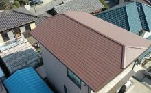 愛知県西三河東三河西尾市汚れ傷みメンテナンスカラーベスト屋根塗装アドグリーンコートEXクールブラウン汚れ苔施工写真完成