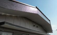 愛知県西三河東三河西尾市外壁塗装アステック超低汚染遮熱シリコン塗装カラーボンドベイジュ屋根塗装アドグリーンコートEXブラウン破風部