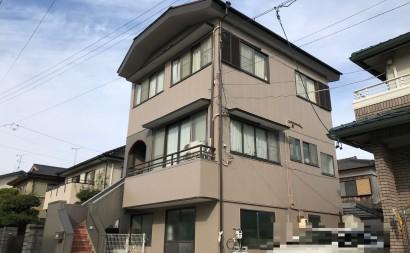 愛知県西三河東三河西尾市外壁塗装アステック超低汚染遮熱シリコン塗装カラーボンドベイジュ屋根塗装アドグリーンコートEXブラウン施工後