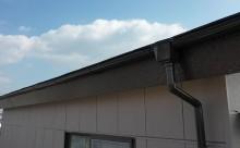 愛知県西三河東三河西尾市外壁塗装アステック超低汚染遮熱シリコン塗装カラーボンドベイジュ屋根塗装アドグリーンコートEXブラウン鼻隠し、軒樋