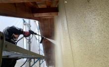 愛知県西三河東三河西尾市木造外壁塗装アステック超低汚染無機フッ素塗装オレンジホワイト傷み色褪せひび割れ汚れメンテナンス外壁塗装施工手順高圧洗浄
