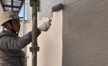 愛知県西三河東三河西尾市外壁塗装工事ベランダ防水工事アステック超低汚染遮熱シリコン塗装カラーボンドスレートグレーアクセント壁チャコールメンテナンス外壁施工手順中塗り